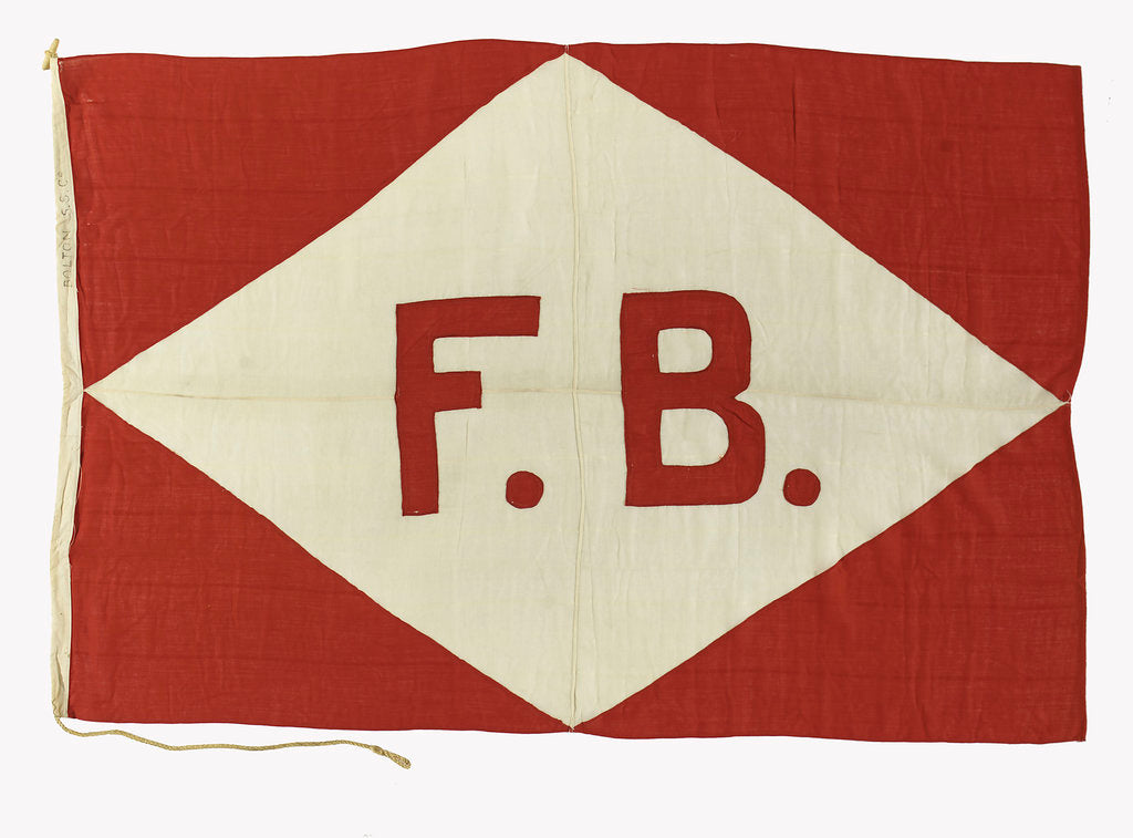 Detail of House flag, Bolton Steam Shipping Co. Ltd by unknown