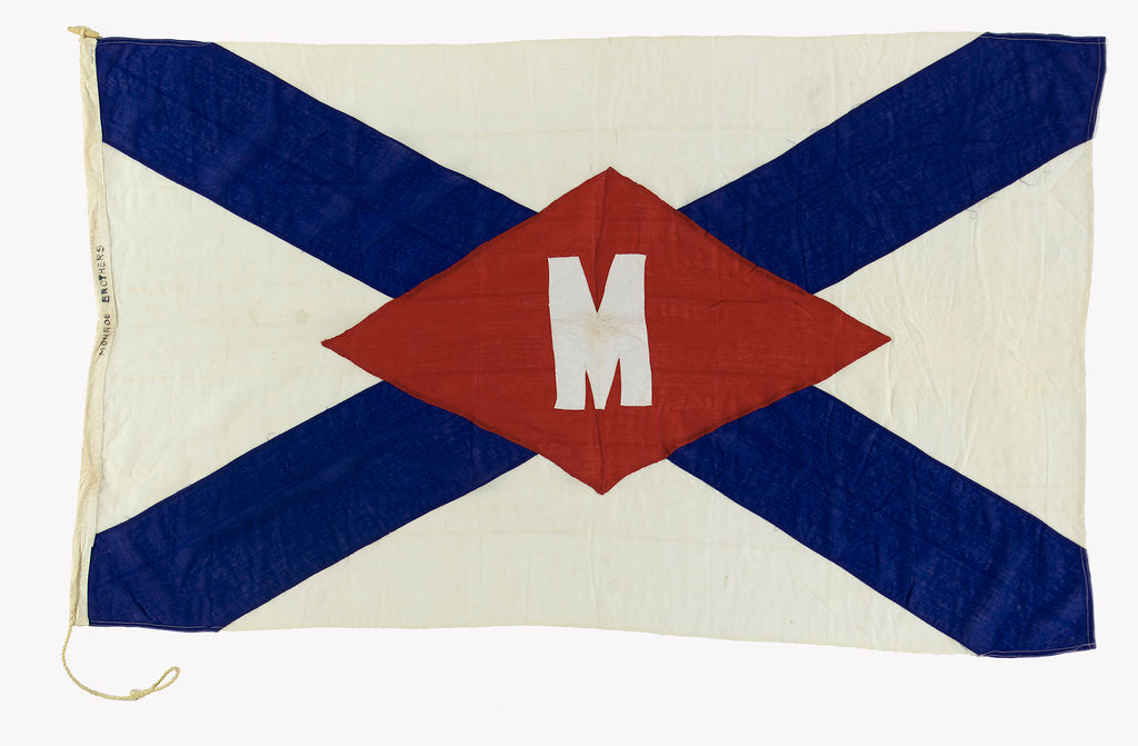 Detail of House flag, Monroe Brothers by unknown