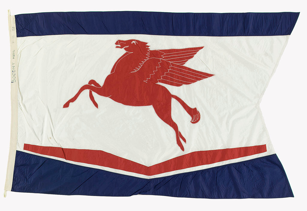 Detail of House flag, Socony Mobil Co. Inc by unknown