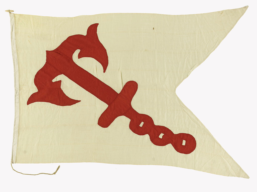 Detail of House flag, Anchor Line Ltd by unknown