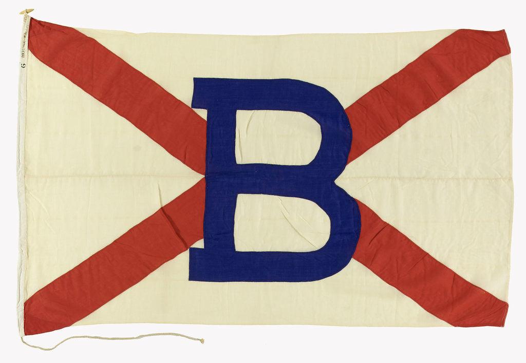 Detail of House flag, Booth Steamship Co. Ltd by unknown
