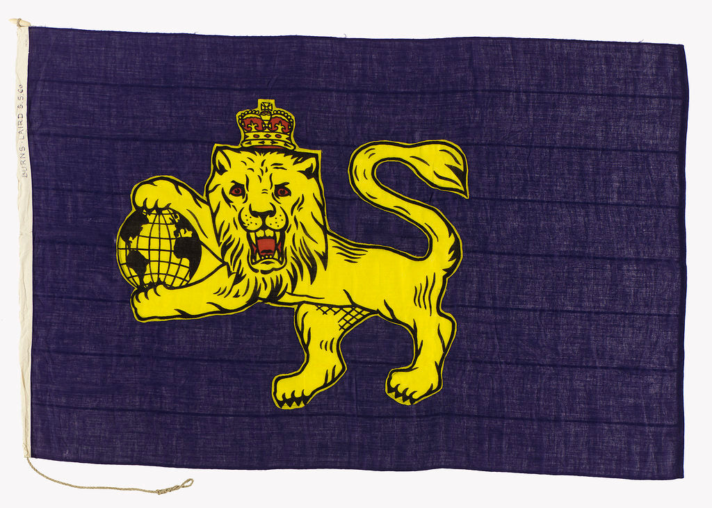 Detail of House flag, Burns and Laird Lines Ltd by unknown