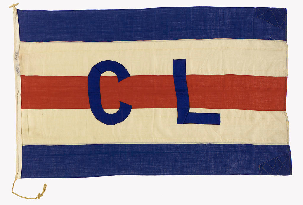 Detail of House flag, Coast Lines Ltd by unknown