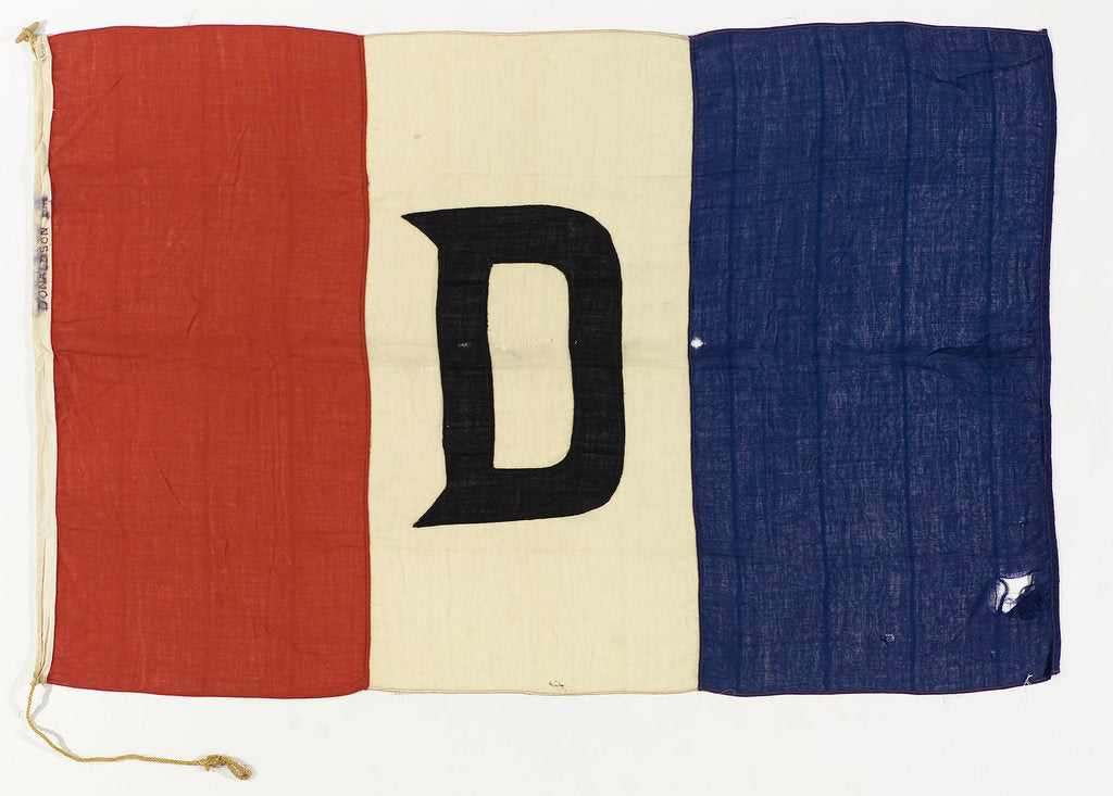 Detail of House flag, Donaldson Line Ltd by unknown