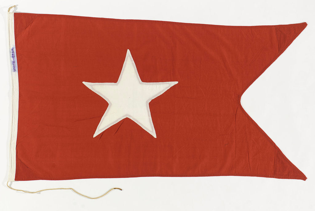 Detail of House flag, White Star Line by unknown