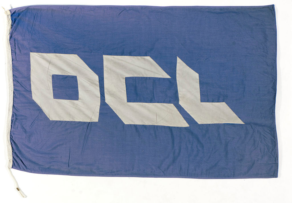 Detail of House flag, Overseas Containers Ltd by unknown