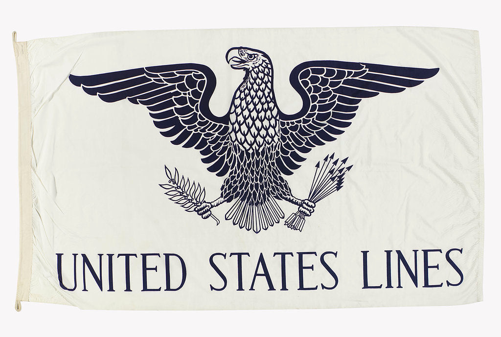 Detail of House flag, United States Lines Co. by unknown