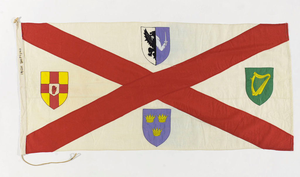 Detail of House flag, Irish Shipping Ltd by unknown
