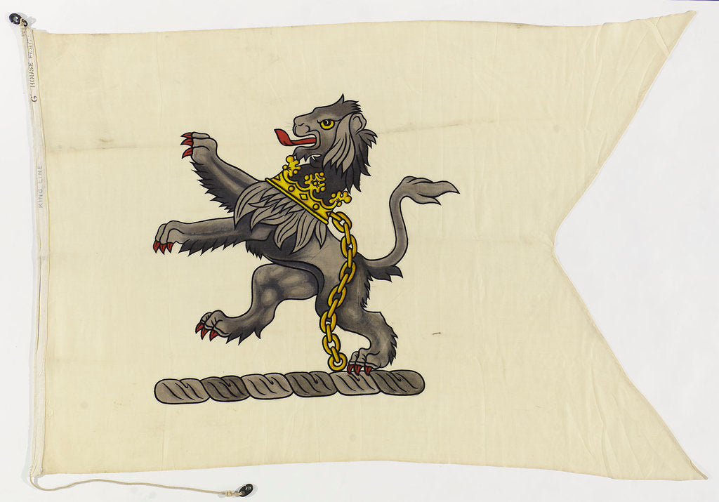 Detail of House flag, King Line Ltd by unknown