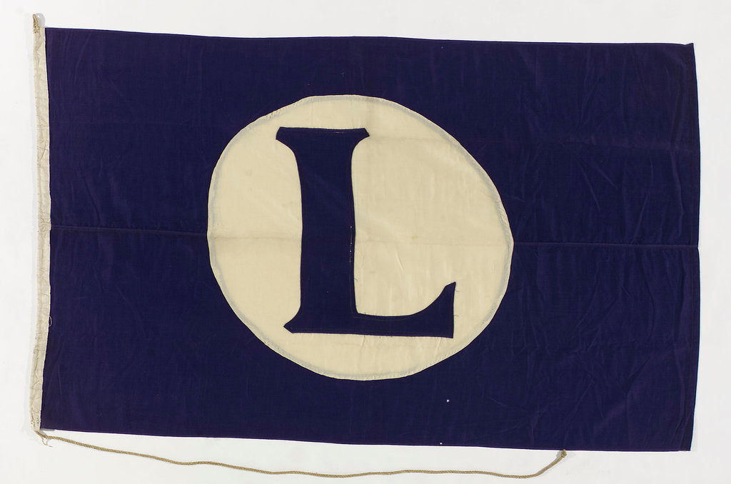 Detail of House flag, Lyle Shipping Co. Ltd by unknown