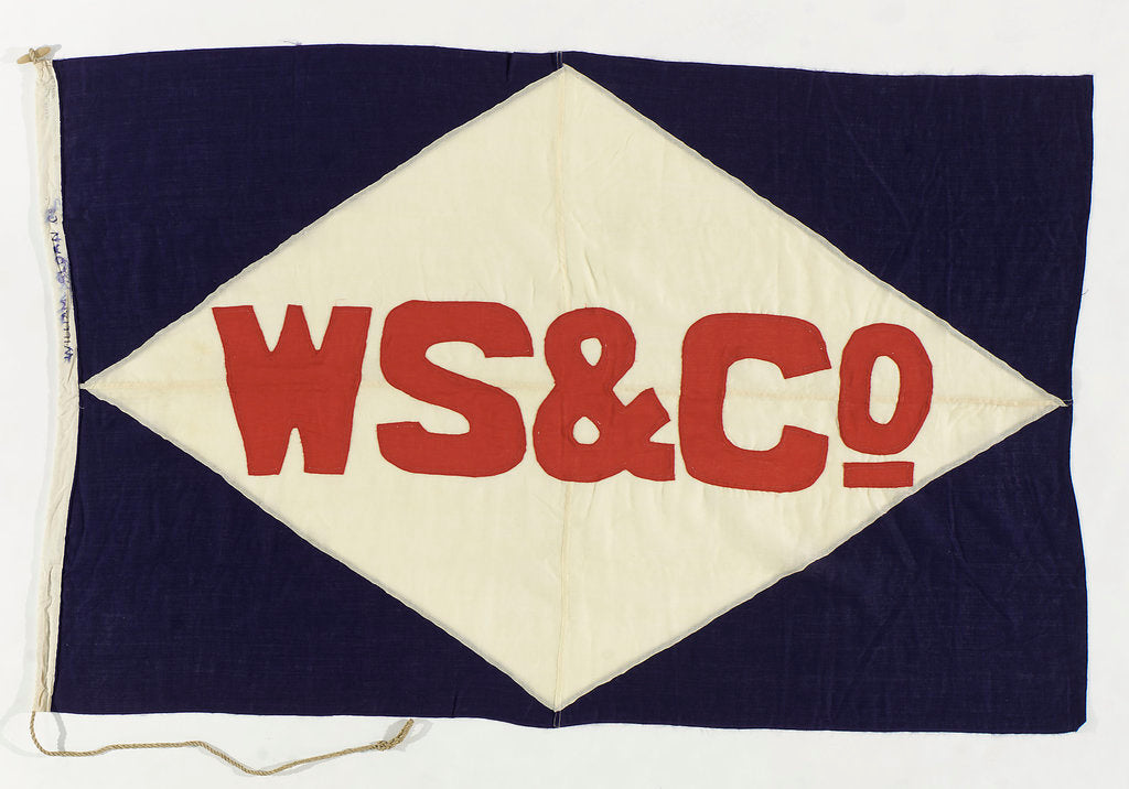 Detail of House flag, William Sloan & Co. by unknown