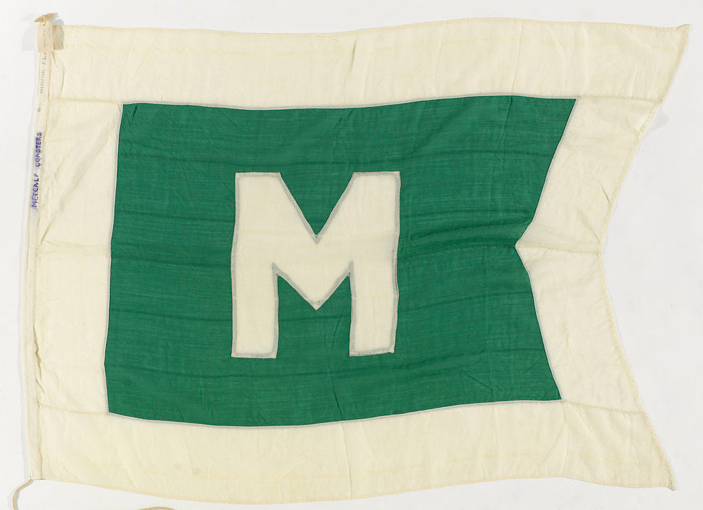Detail of House flag, Metcalf Motor Coasters Ltd by unknown