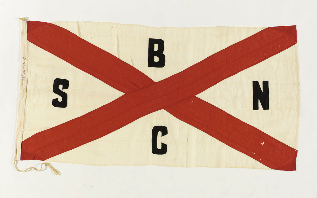 Detail of House flag, Bristol Steam Navigation Co. Ltd by unknown