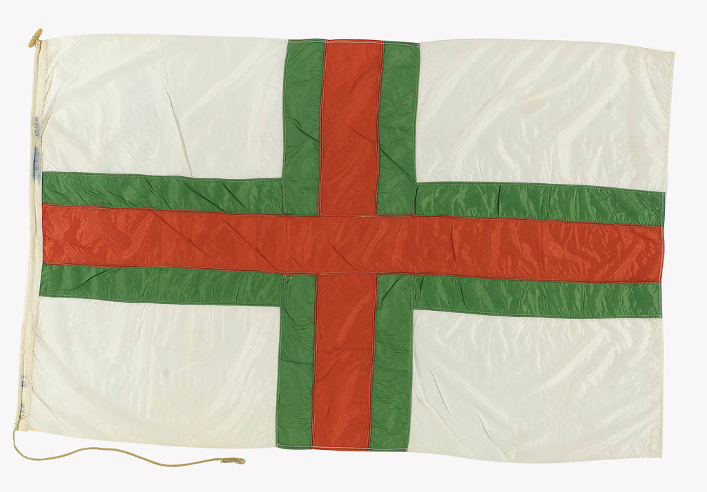 Detail of House flag, British and Irish Steam Packet Co. Ltd by unknown