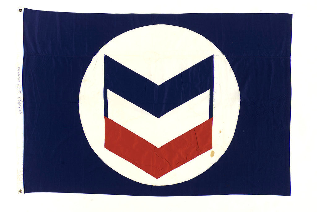 Detail of House flag, Chevron Steamship Co. by unknown