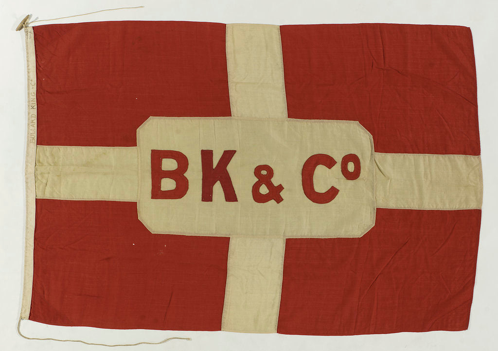 Detail of House flag, Bullard King and Co. by unknown