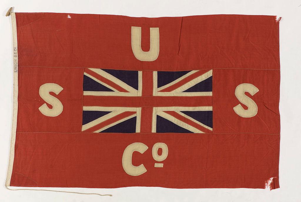 Detail of House flag, Union Steam Ship Co. of New Zealand Ltd by unknown