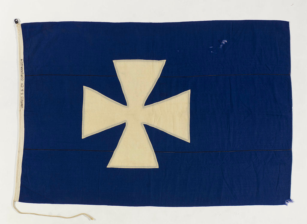 Detail of House flag, United Steamship Co. by unknown