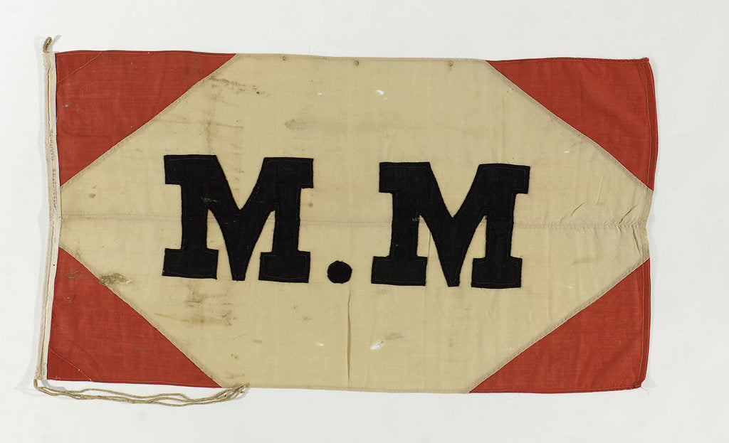 Detail of House flag, Compagnie des Messageries Maritimes by unknown