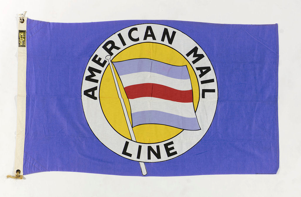 Detail of House flag, American Mail Line Ltd by Puget Sound Tent and Duck Co.