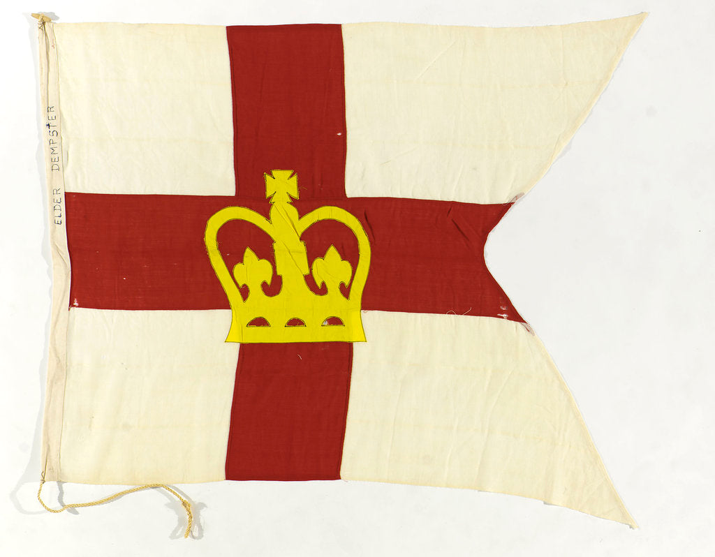 Detail of House flag, Elder Dempster & Co. Ltd by unknown