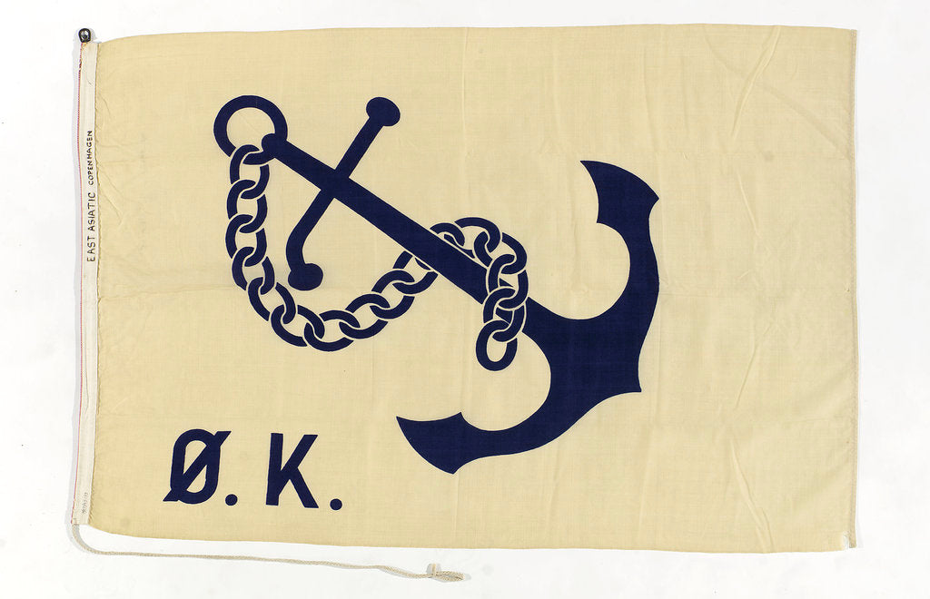 Detail of House flag, Ostasiatiske Kompagni A/S Det by unknown