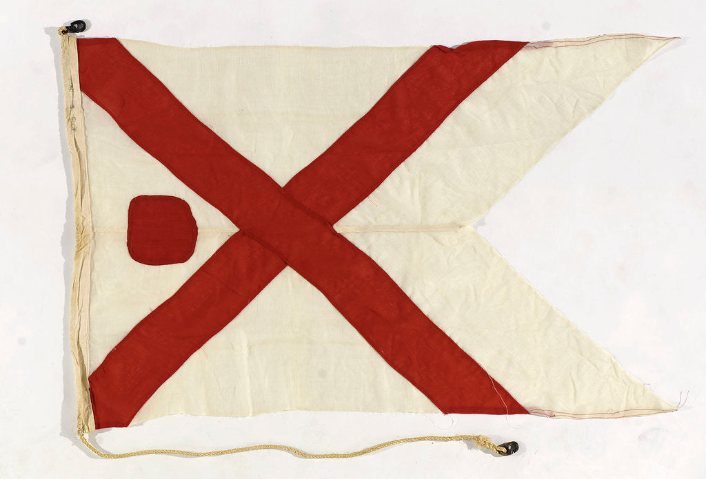 Detail of Flag of a Commodore, British India Steam Navigation Company by unknown