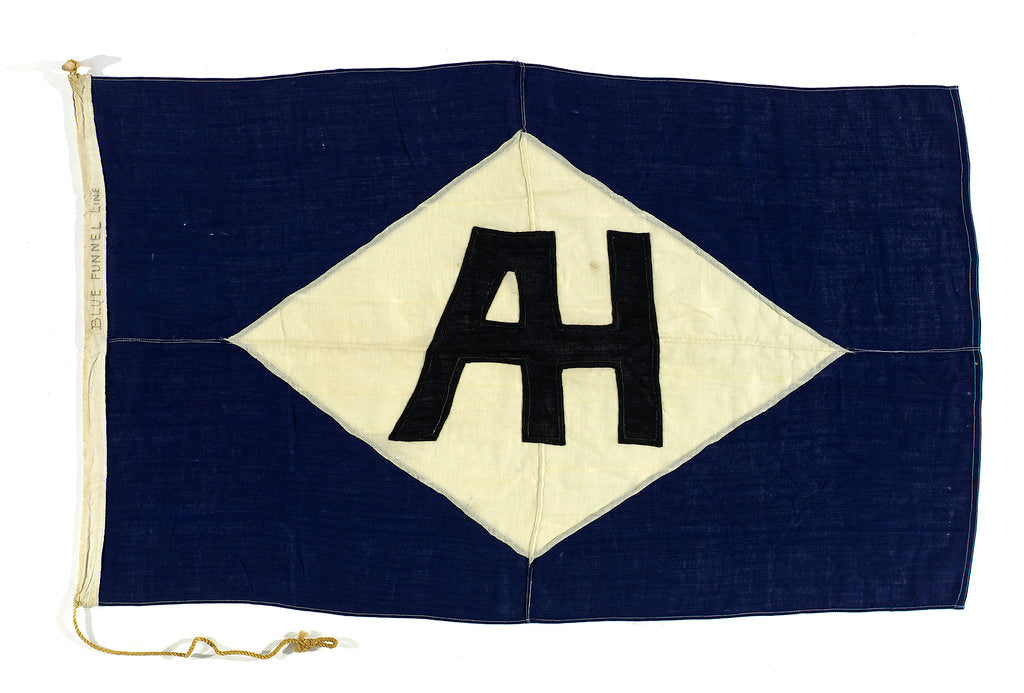 Detail of House flag, Blue Funnel Line by unknown