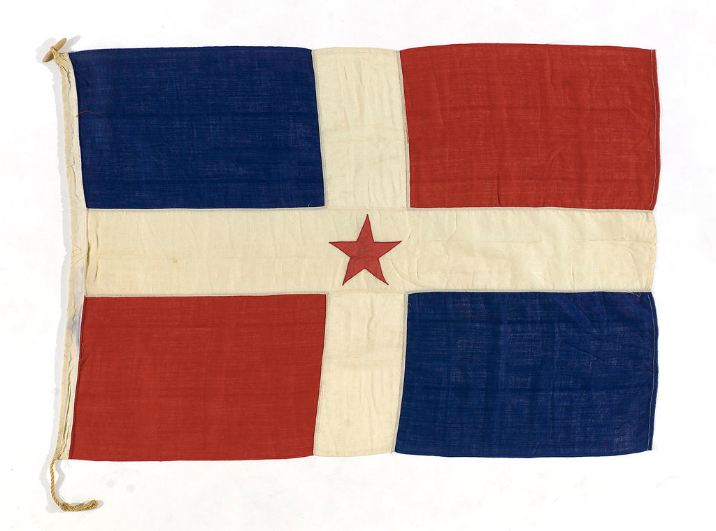Detail of House flag, India General Steam Navigation Co. by unknown