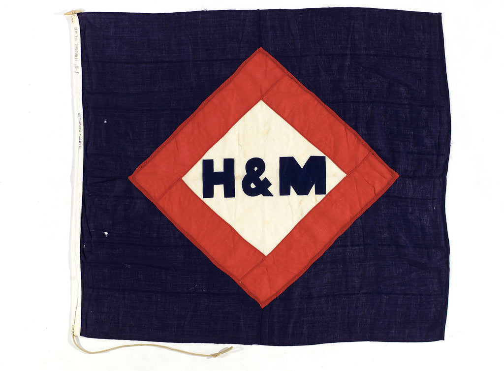 Detail of House flag, Hardy and MacGregor by unknown