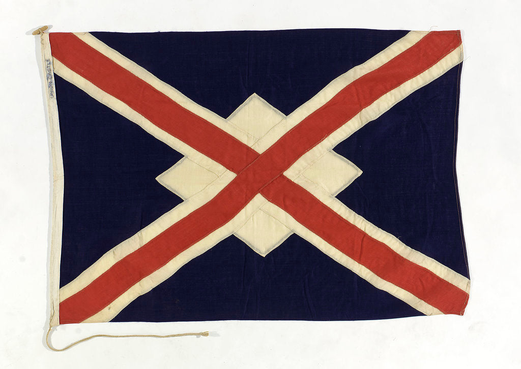 Detail of House flag, Union Castle Mail Steamship Co. Ltd by unknown