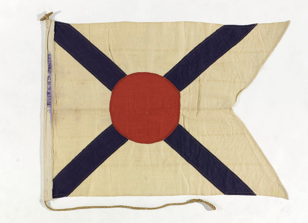 Detail of House flag, Rivers Steam Navigation Co. Ltd by unknown