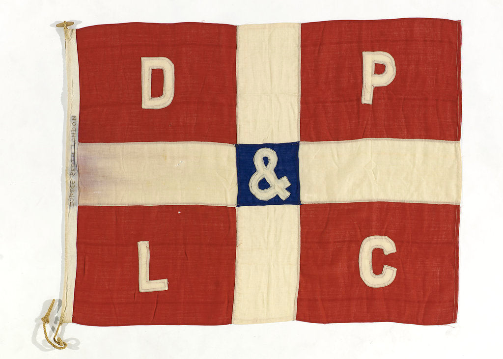 Detail of House flag, Dundee Perth and London Shipping Co. by unknown