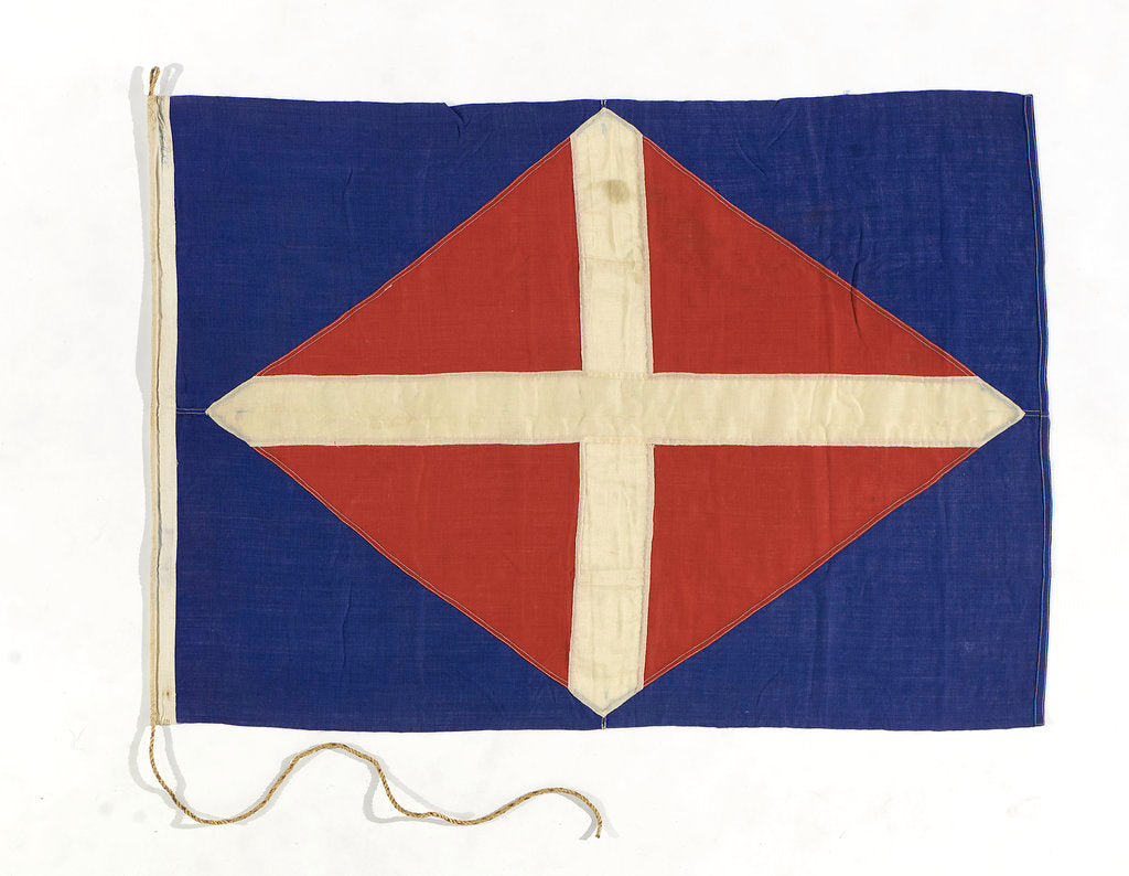Detail of House flag, Straits Steamship Co. Ltd by unknown