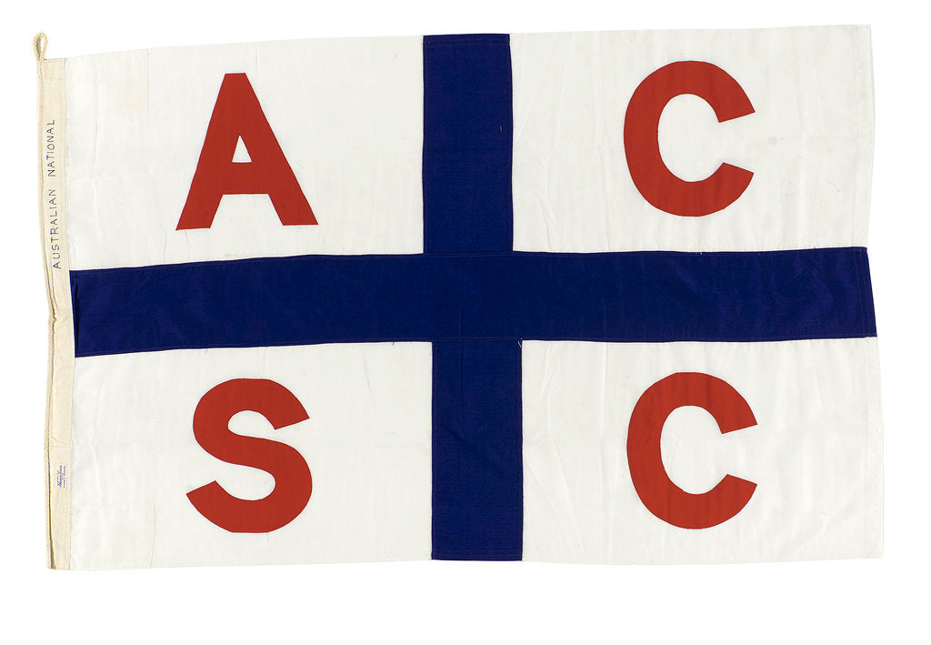 Detail of House flag, Australian Coastal Shipping Commission by Thomas Evan Pty Ltd.