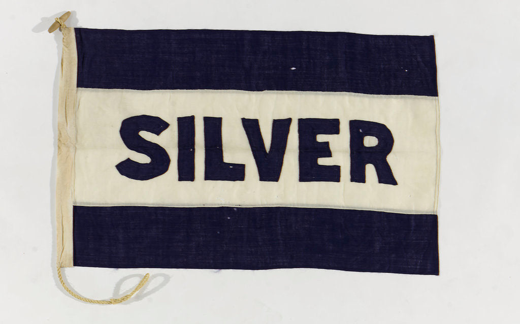 Detail of House flag, Silver Line Ltd by unknown