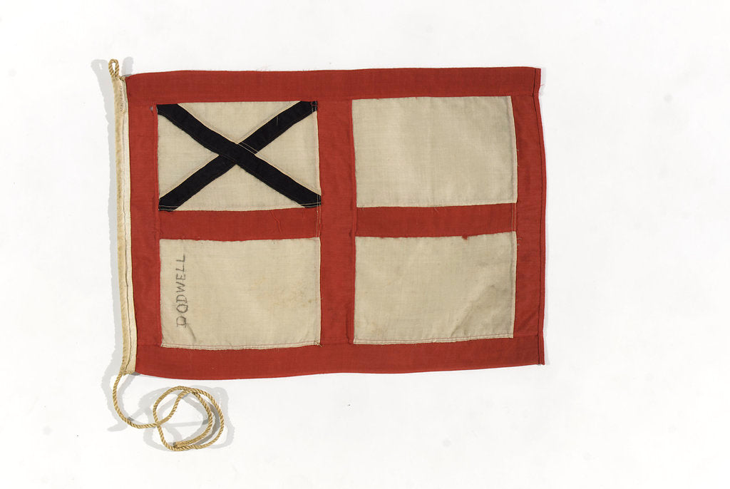 Detail of House flag, Dodwell & Co. by unknown