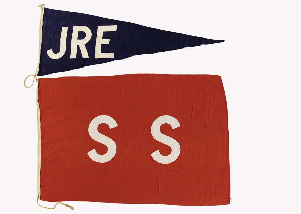 Detail of House flag, City Line Ltd by unknown