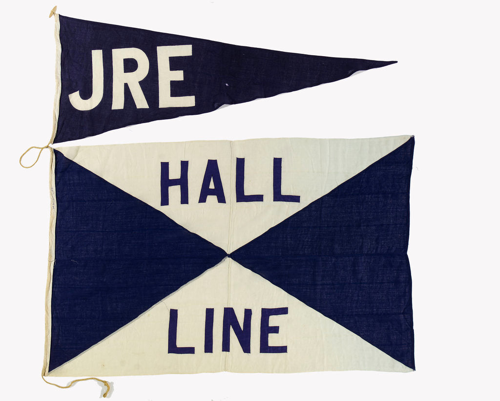 Detail of House flag, Hall Line Ltd by unknown