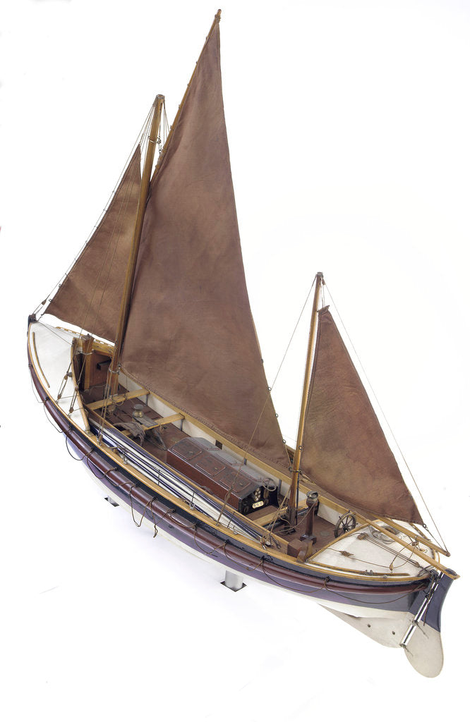Detail of Full hull model, Watson lifeboat, port stern quarter deck by unknown