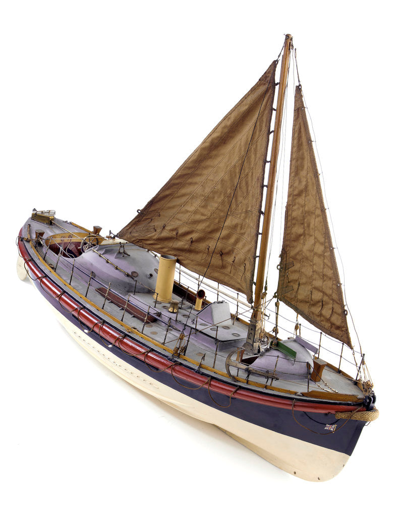 Detail of Full hull model, Watson lifeboat, starboard by unknown