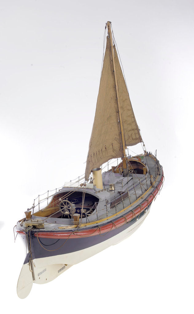 Detail of Full hull model, Watson lifeboat, starboard stern quarter deck by unknown