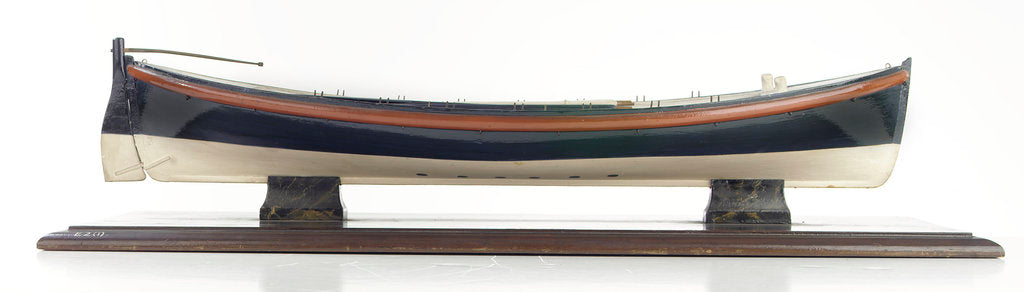 Detail of Full hull model, lifeboat, starboard broadside by David Harvey