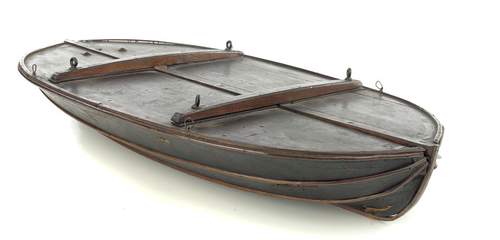 Detail of Full hull model, collapsible lifeboat by G. L. Berthon