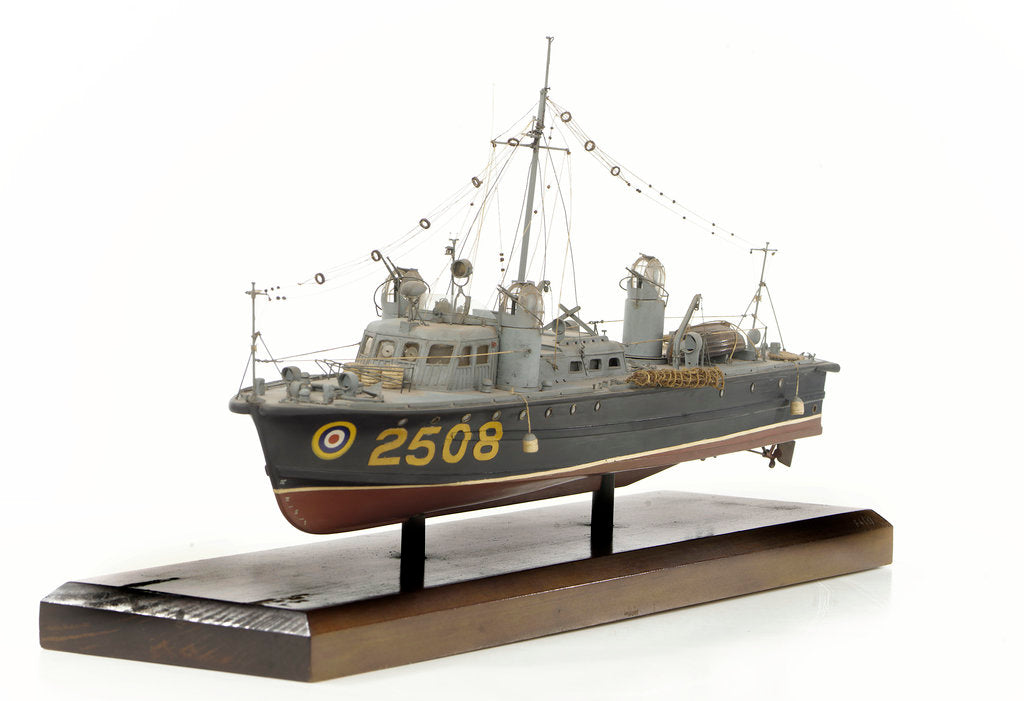 Detail of Full hull model, air-sea rescue launch, port by unknown