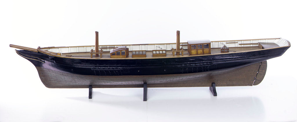 Detail of Accommodation model, yacht, port broadside by unknown