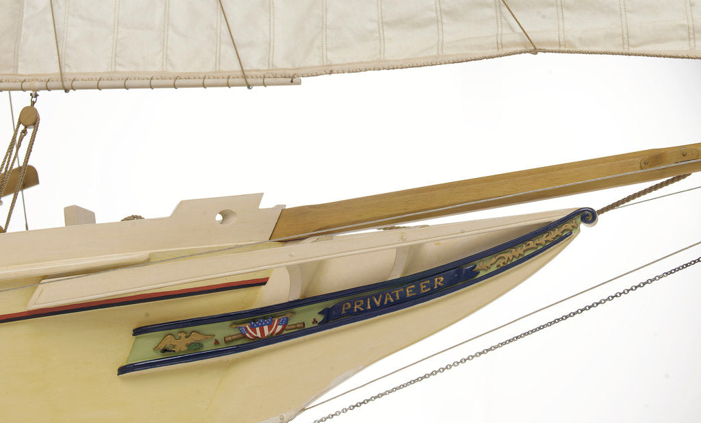 Detail of 'Privateer', bow, trail board detail by J.A. Thompson