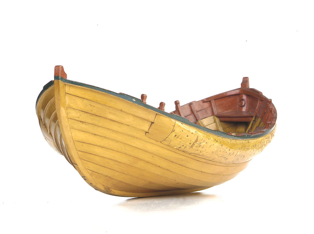 Detail of Full hull model, Greathead lifeboat by unknown