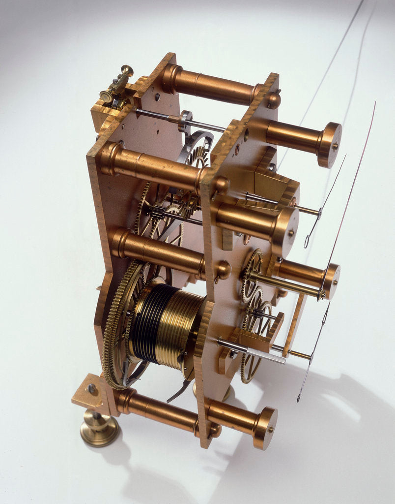 Detail of Astronomical regulator, movement back by Robert Pennington