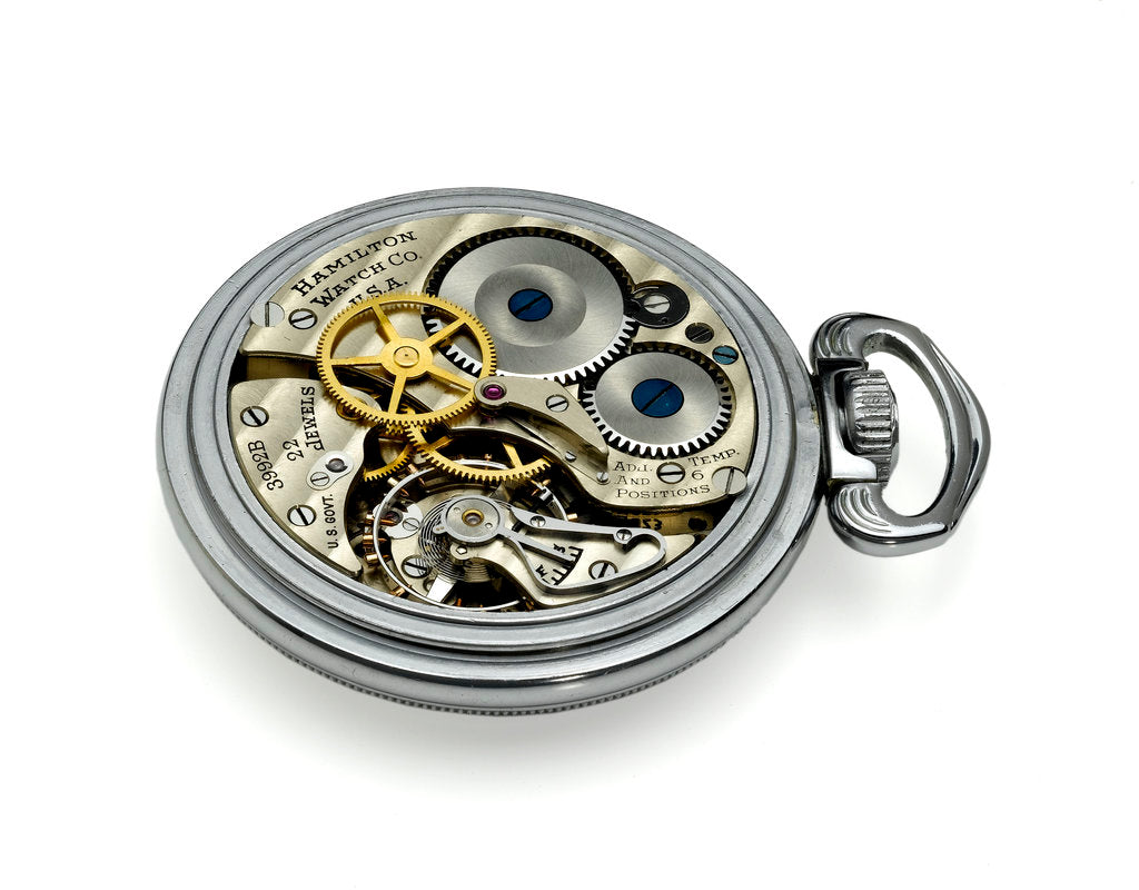 Detail of Deck watch, movement by Hamilton Watch Co.